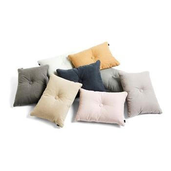 Dot Velvet cushion, W60 x H45cm, dark green