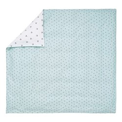 Little Leaf Double duvet cover, L200 x W200cm, blue