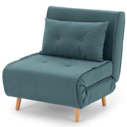 Haru Single sofa bed, H78 x W77 x D86cm, Sherbet Blue