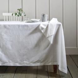 Seville Tablecloth, 140 x 230cm, White