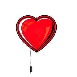 Heart Neon light, W43.5 x H40cm, red