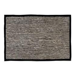 Braided Stripe Rug, W182.88 x L274.32cm, black & white