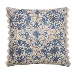 Ashcombe Cushion, 50 x 50cm, beige blue