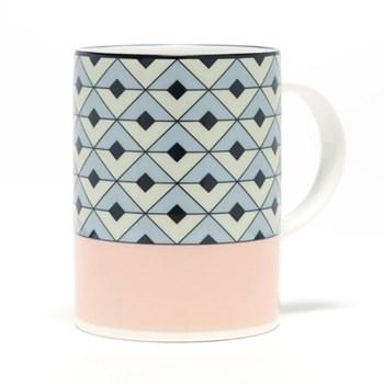 Tile Mug, 10.2 x 7.6cm, blush/duck egg