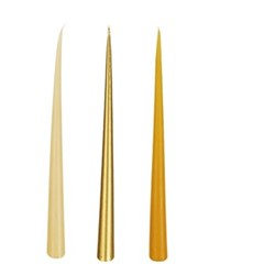 Tapered Set of 12 candles, 32cm, gold
