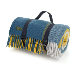 Polo Picnic rug, 150 x 183cm, yellow/navy