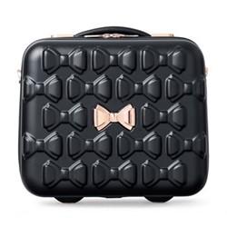 Bow Vanity suitcase, L31.5 x W34 x D19.5cm, black