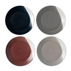 Bowls of Plenty Set of 4 plates, 28cm, brown/grey