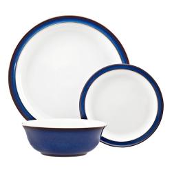 Imperial Blue 12 piece tableware set, blue