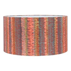 Textured Stripe Extra large lampshade, W45 x H25cm, paprika/storm