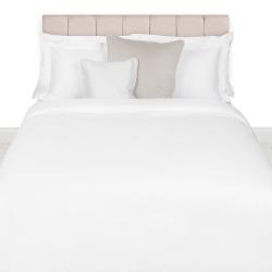 500 Thread Count Cotton Sateen Super king duvet cover, W220 x L260cm, white