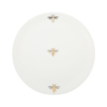 Bee Dinner plate, D27cm, white
