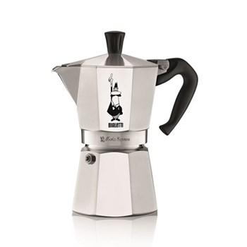 Moka Express Aluminium stovetop coffee maker (6 cup), silver