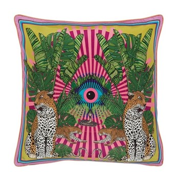 Eye of the Leopard Cushion, L45 x W45cm, pink
