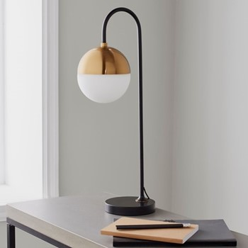 Mayfair Table lamp, L21 x W18 x D59cm, gold/black