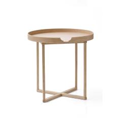 Damien Round table, H45 x W45 x D45cm, Oak