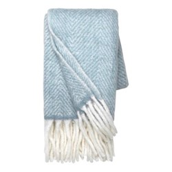 Mathea Melange Throw, 130 x 170cm, dusty blue