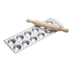 Imperia Italian Ravioli tray 12 hole and rolling pin