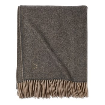 Uno Throw, 200 x 145cm, slate grey/melange taupe
