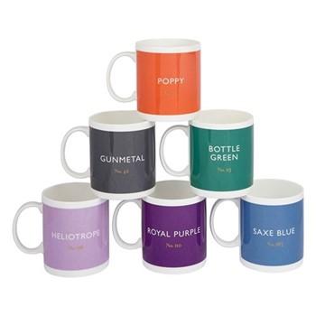 Set of 6 mugs, H9.7 x D8.5cm - 340ml, multi