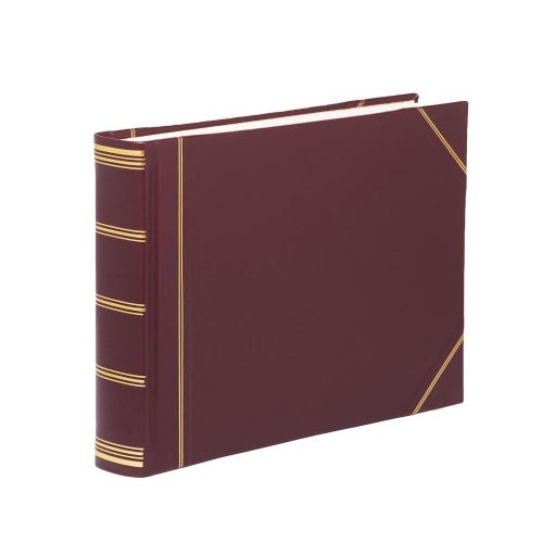 Classic Range Photograph album landscape original with 30 card pages, 28 x 38cm, burgundy with gold corners