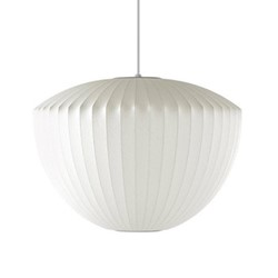 Apple Medium pendant lamp, W53.5 x H37cm, white