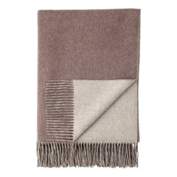 Plain Reversible double face throw, 190 x 140cm, heather / pebble