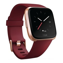 Fitbit Versa Health & fitness smartwatch with heart rate monitor, W4.1 x D25.6cm, ruby & rose gold