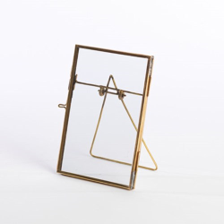"Danta Photograph frame, 4 x 6"", antique brass"