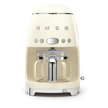 50's Retro Style Drip coffee machine, H33 x W15.5 x D33cm, cream