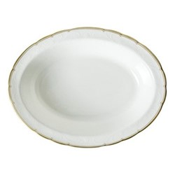 Darley Abbey Pure Gold Open vegetable dish, D19 x H5cm, white/gold