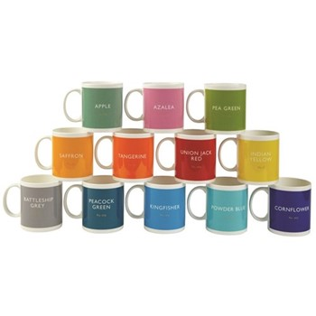 Set of 12 mugs, H9.7 x D8.5cm - 340ml, multi