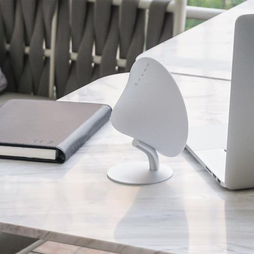 Mini Halo One Bluetooth speaker, H16 x L14 x D6cm, Matt White