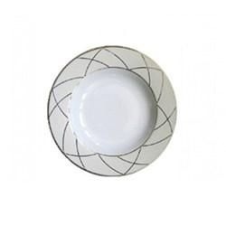 Clair de Lune Arcades Large rim soup plate, 24cm