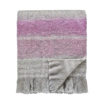 Wisteria Falls Blanket, L185 x W140cm, lilac/grey