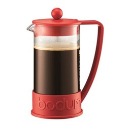 Brazil 8 cup coffee maker, 1 litre, red