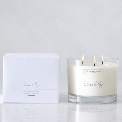 Lime & Bay Large 3-wick candle, H11.5 x W14 x L14cm