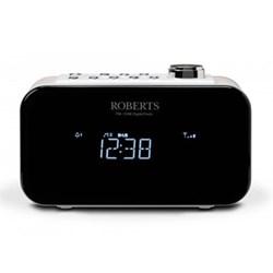 Ortus 2 DAB/DAB+/FM digital alarm clock radio, H10.6 x W17 x D6.4cm, white