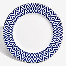 Aragon Plate, 15.4cm, midnight blue & white