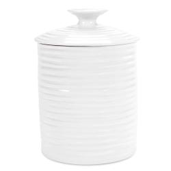 Ceramics Storage jar medium, 14 x 12.5cm, White