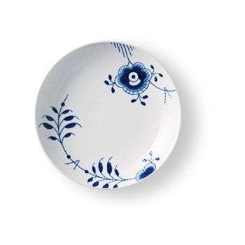 Blue Fluted Mega Rimless plate, 25cm