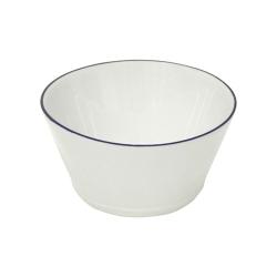 Beja Set of 6 cereal bowls, 14cm, White With Blue Rim