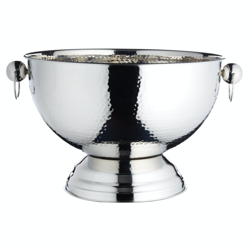 Champagne bowl, 37 x 25cm, Hammered Stainless Steel