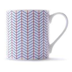 Ebb Mug, H9 x D8.5cm, red/blue