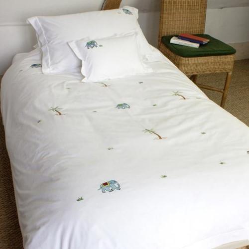Elephant Oxford pillowcase, 50 x 75cm, 200 Thread Count Cotton