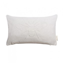 Bees Cushion, 30 x 50cm, white