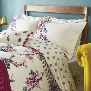 Harvest Garden Super king size duvet cover, L220 x W260cm, bilberry