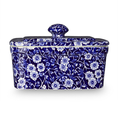 Calico Butter dish, Blue