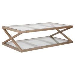 Marylebone Small coffee table, L140 x W80 x H40cm, Weathered Oak