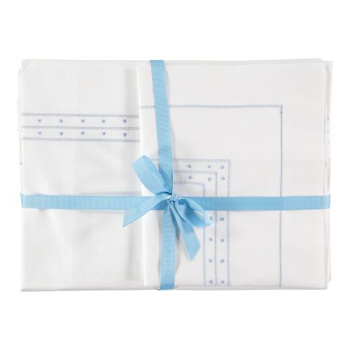 Matilda Super king size duvet cover, 260 x 220cm, Blue 200 Thread Count Cotton